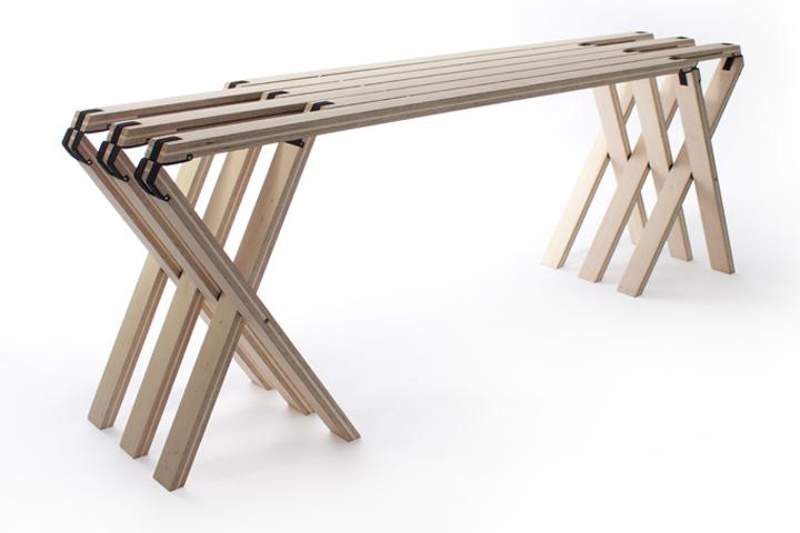 Красивая складная скамья в современном стиле от Северин Арнольд, Финн Блюмел