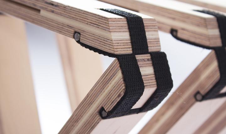 Чудесная складная скамья в современном стиле от Северин Арнольд, Финн Блюмел