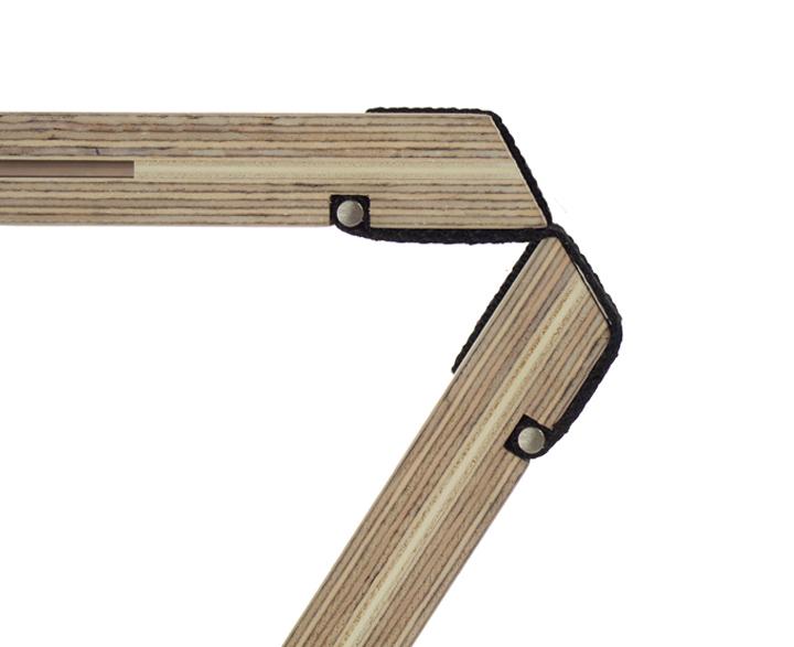 Восхитительная складная скамья в современном стиле от Северин Арнольд, Финн Блюмел