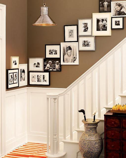 Фотографии в оформлении стен лестничного проема