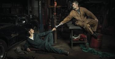 «Сотворение Адама» Микеланджело в фото интерпретации Фредди Фабриса