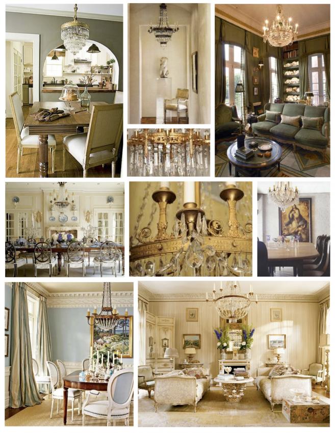 Хрустальные люстры в стиле French Empire
