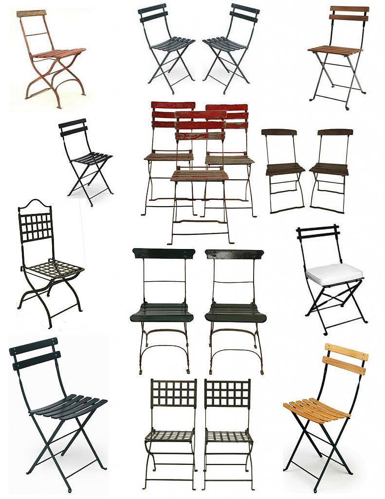 Необычные складные стулья