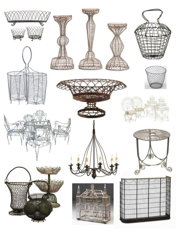 Плетёная мебель и предметы декора из проволоки