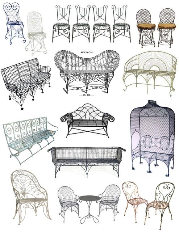 Предметы мебели из проволоки