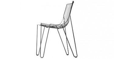 Плетенный стул из проволоки
