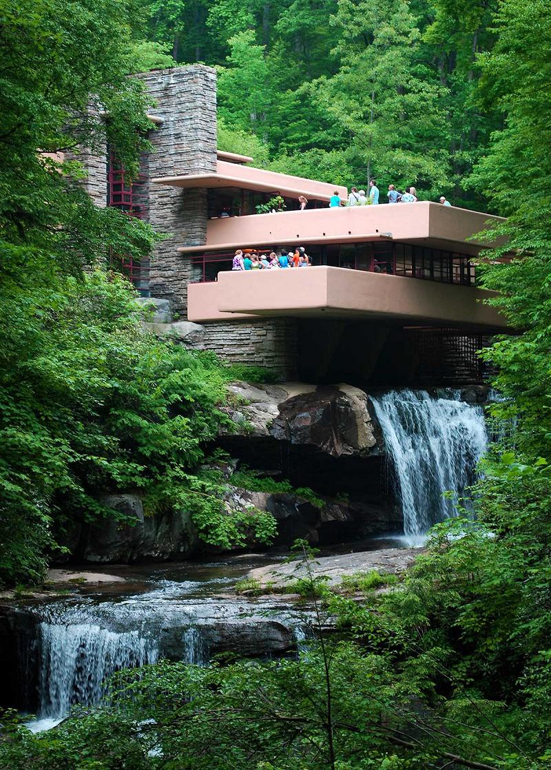 все знаем, дом над водопадом фрэнка ллойда райта фото впечатление