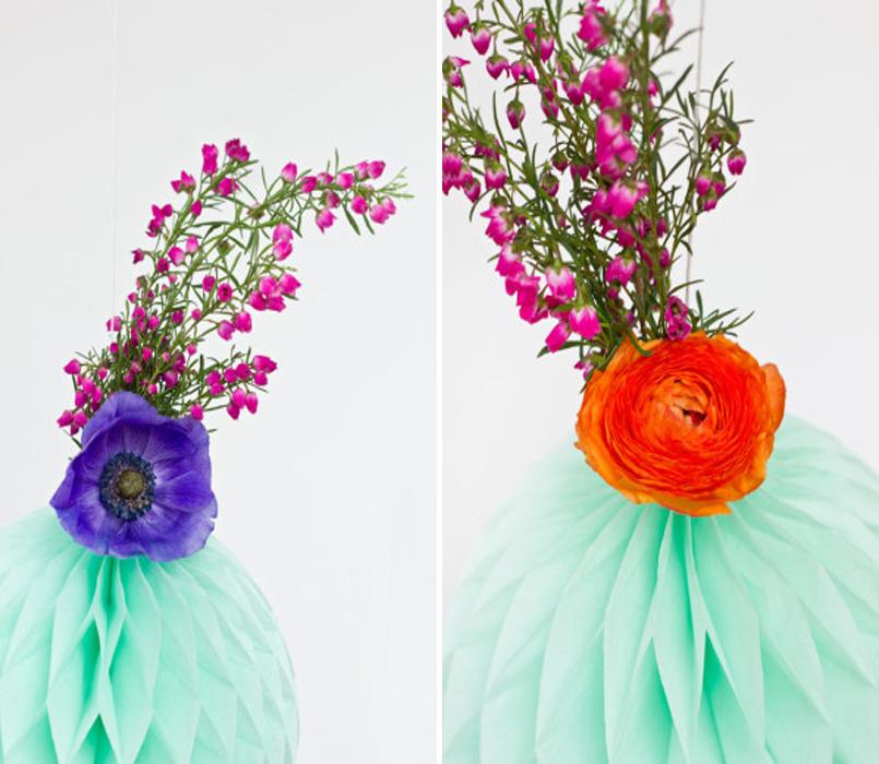Стильная композиция из живых цветов