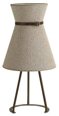 Настольная лампа в форме платья