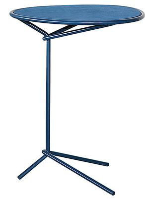 Стол, похожий на синий стул с кожаным сиденьем