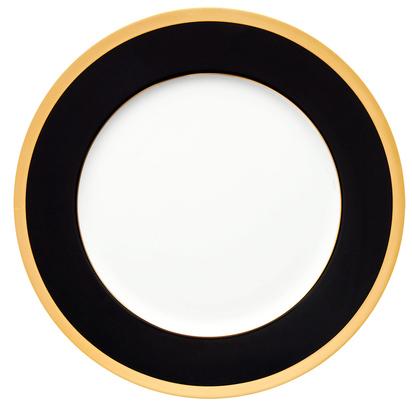 Фарфоровая тарелка «Китайский лак, золотой кант»