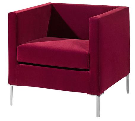 Малиновое кресло от Arketipo