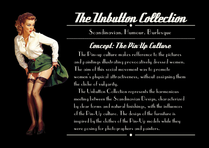 Визитка мебели The Unbutton Collection от Cristina Bulat