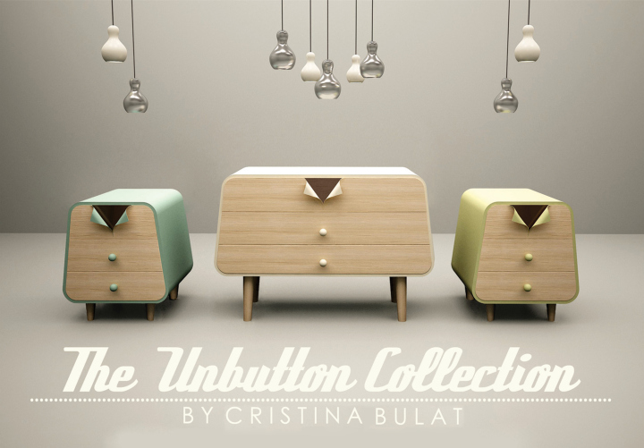Шаблон мебели The Unbutton Collection от Cristina Bulat
