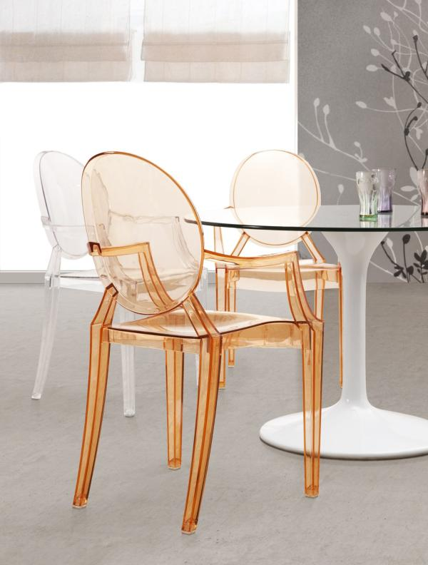 Transparent dining room chairs