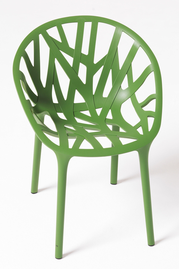 Стул Vegetal из полиамида цвета ярко-зелёной травы