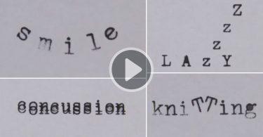 Грег Кондон: короткая анимация с трюками из букв пишущей машинки