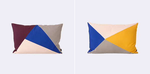 Геометрический дизайн подушек
