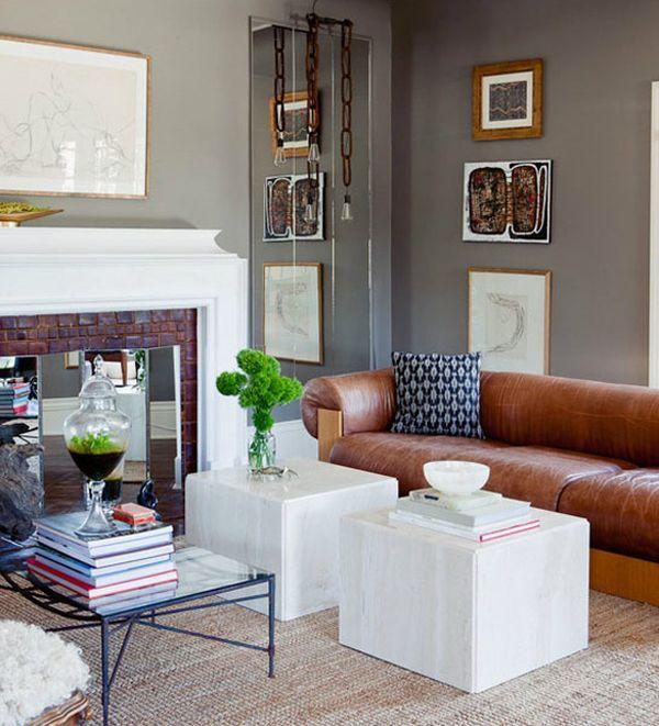 Необычные журнальные столики в интерьере гостиной