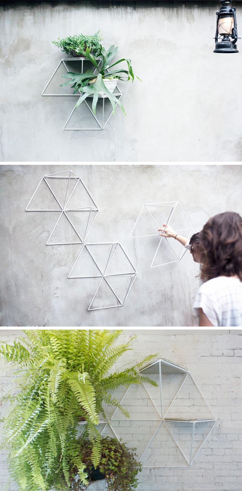 Минималистские геометрические полки