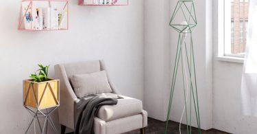 Геометрические светильники разных цветов