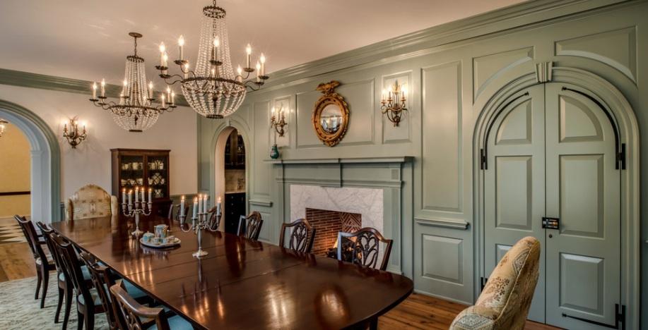 Интерьер столовой в стиле Georgian Colonial