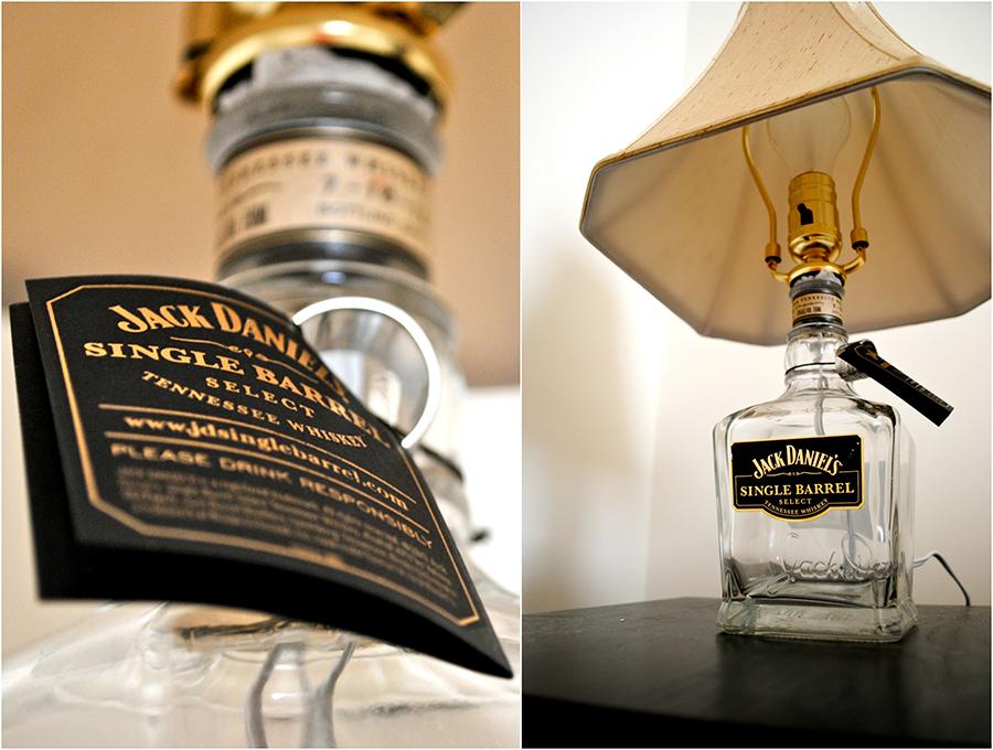 Лампа из под бутылки с виски