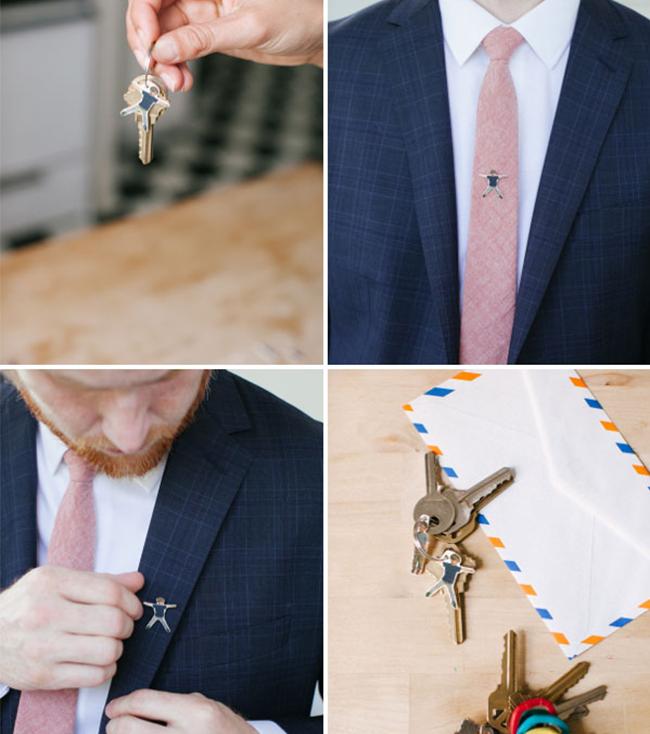Красивая запанка на галстук