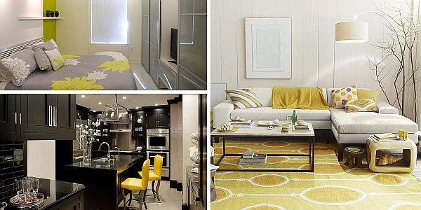Золотой и желтый цвета в интерьерах