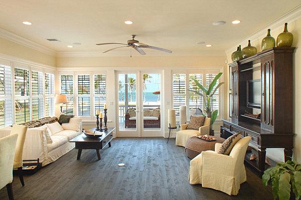 Успокаивающий и умиротворяющий дизайн гостиной