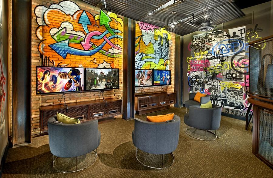 Сногшибательные граффити на стене комнаты