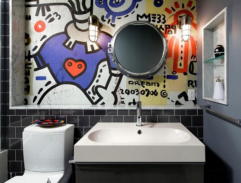 Бесподобные граффити на стене комнаты