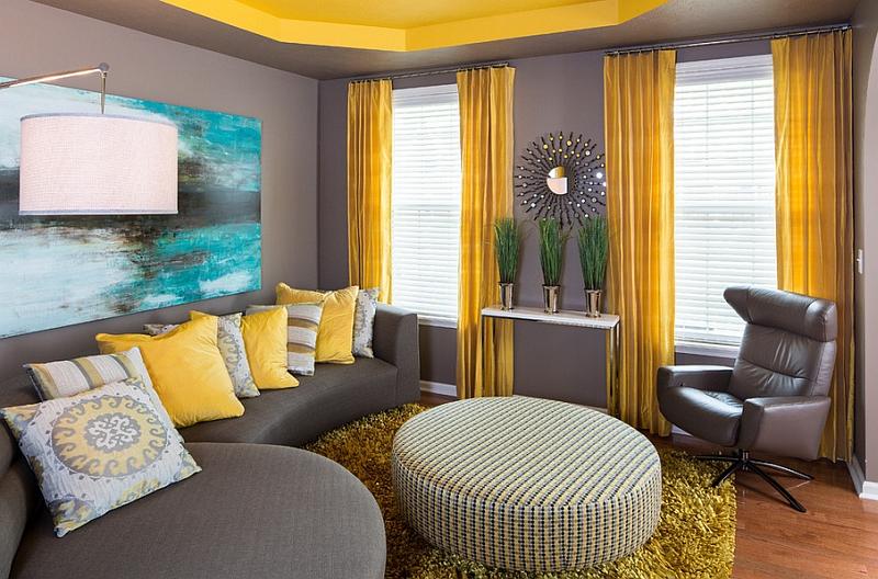Яркий текстиль комнаты