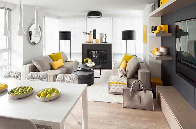 Желтые подушки и картина