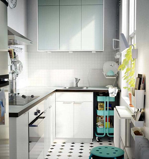 Светлый цвет фасадов кухонной мебели
