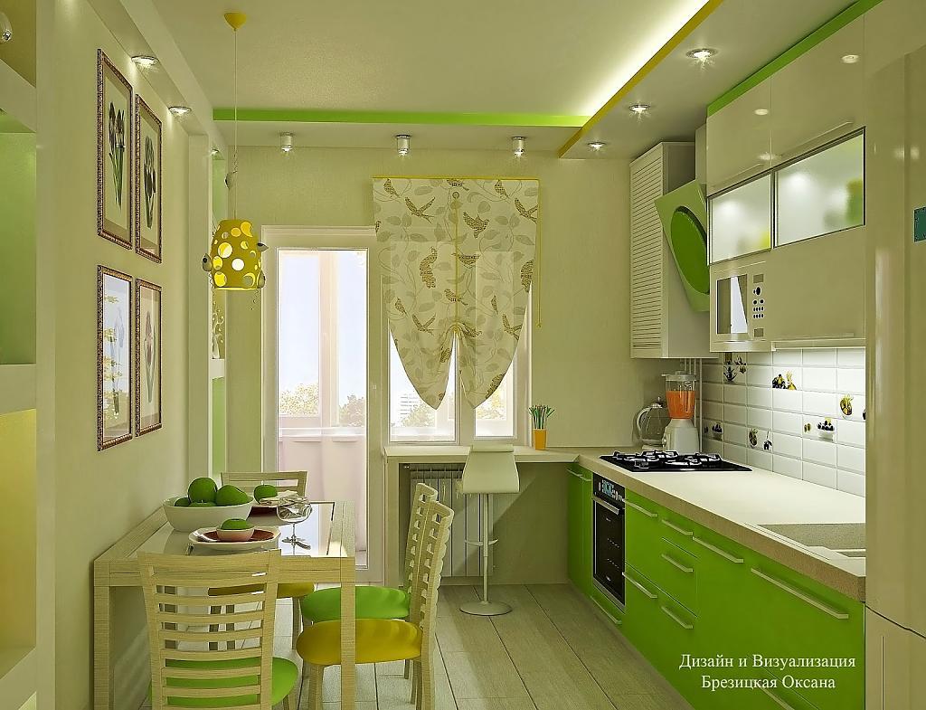 Кухня зеленая фото интерьер