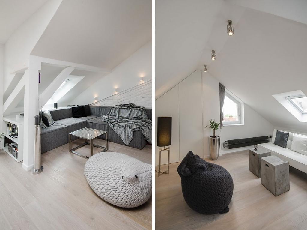 Красивое оформление помещения в стиле лофт