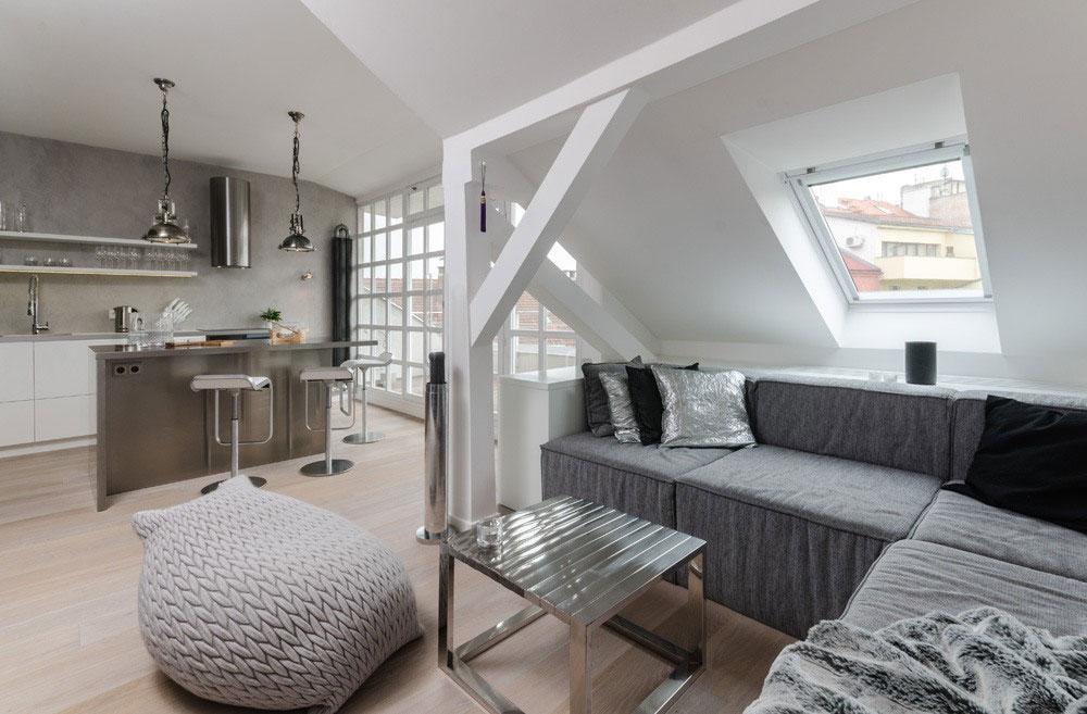 Чудесное оформление помещения в стиле лофт