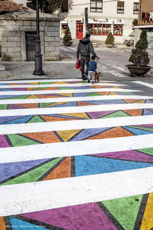 Яркие пешеходные переходы в Мадриде: проект Funnycross Христо Гуелова