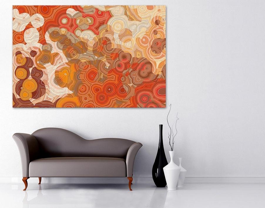 Картина на стене в интерьере в стиле фен-шуй
