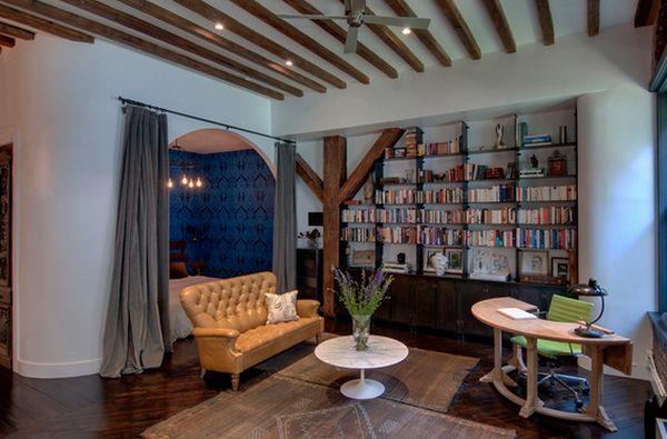 Кожаный диван в стиле фен-шуй