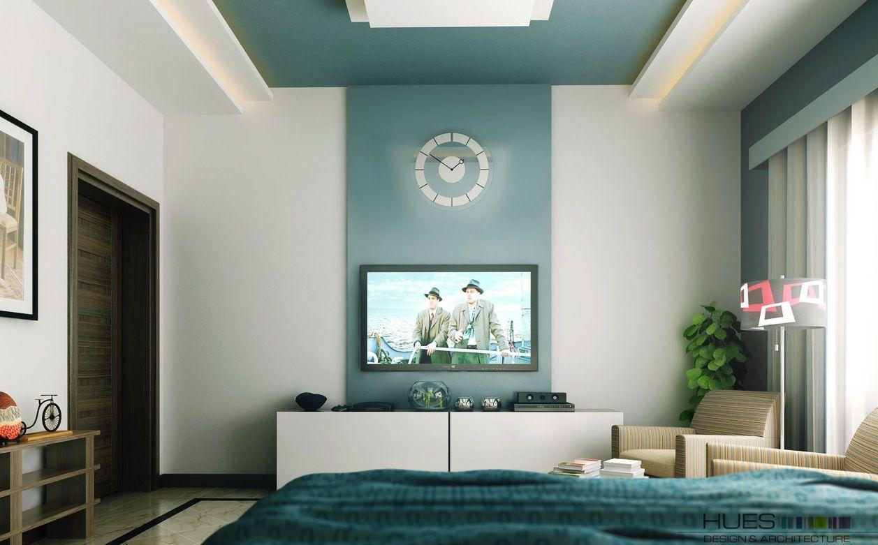 Спальня с телевизором в стиле фен-шуй