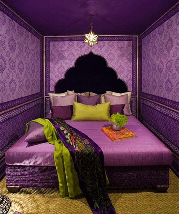 Фиолетовые акценты в интерьере в стиле фен-шуй