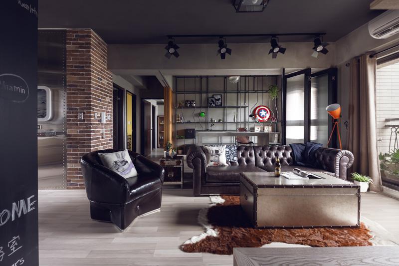 Мужской дизайн квартиры 125