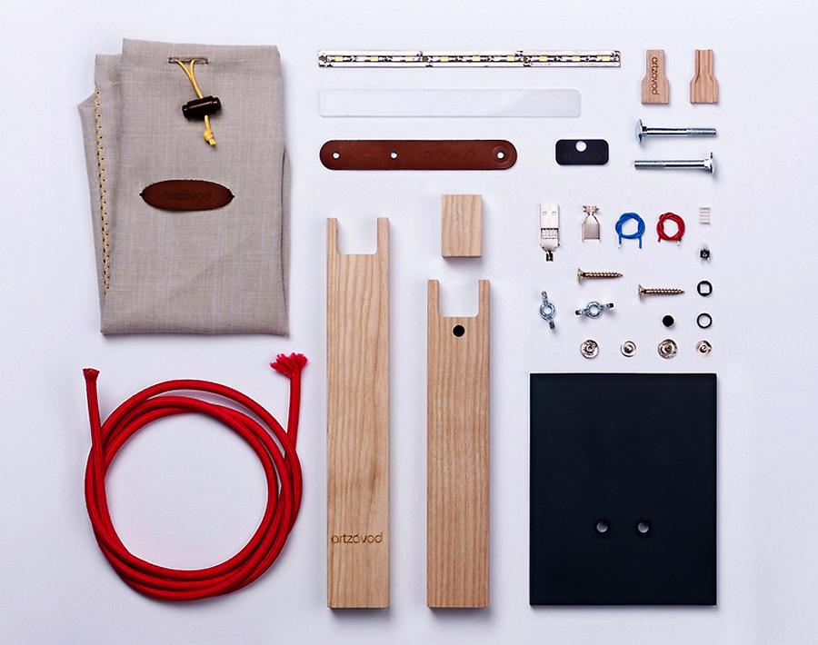 Детали для минималистской USB-лампы от компании Artzavod