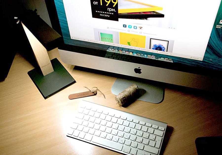 Минималистская USB-лампа в работе