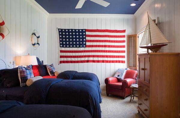 Цвета американского флага в интерьере