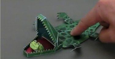 Движущиеся игрушки из бумаги от Хируки Накамуры