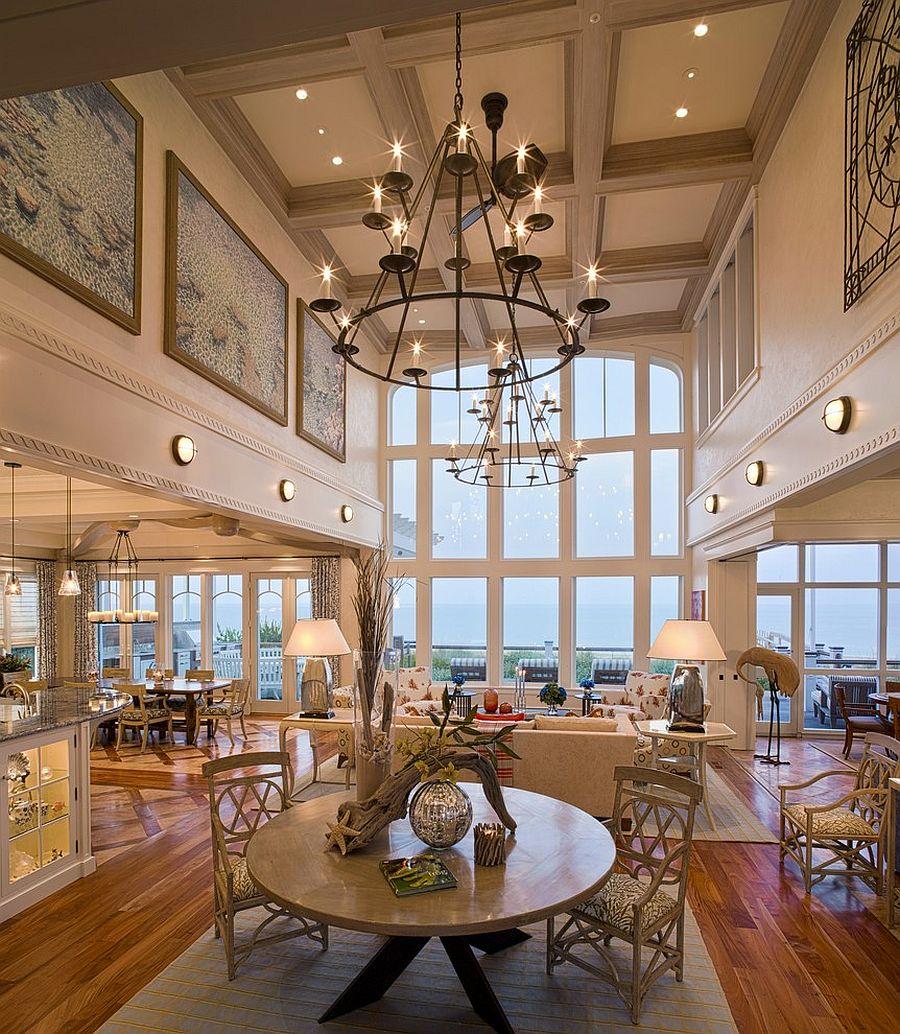 Сногсшибательный дизайн интерьера комнаты с высоким потолком