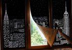 HoleRoll: рулонные шторы с ночными видами небоскрёбов